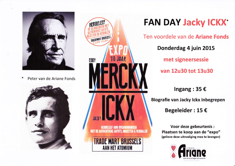 FAN DAY Jacky ICKX ten voordele van de Ariane Fonds