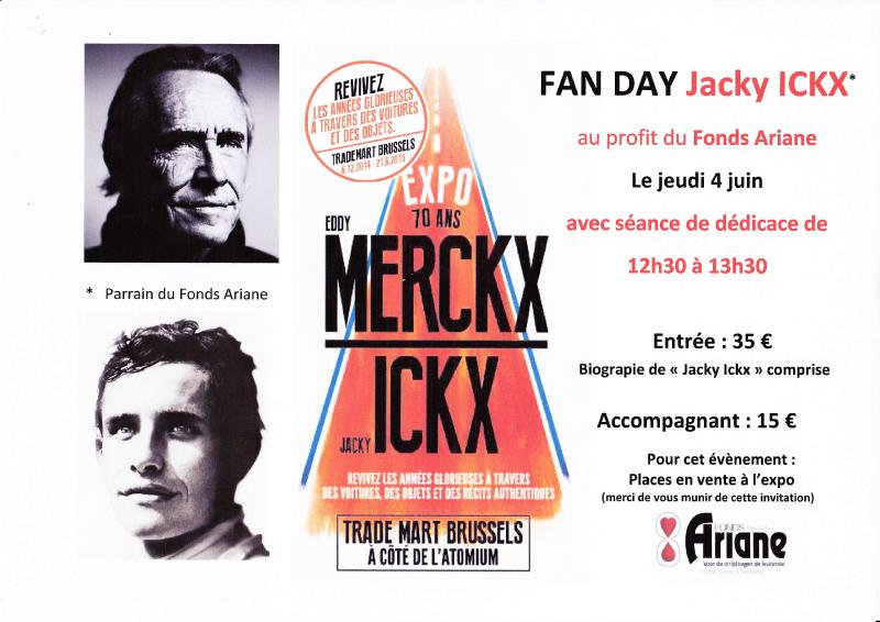 FAN DAY Jacky ICKX au profit du fonds Ariane